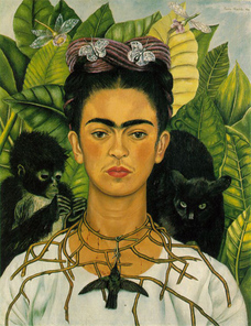 80235fe366be I am so excited to start our unit on self-portraits! I just read students a  fun book (called Frida by Jonah Winter) about the artist, Frida Kahlo.